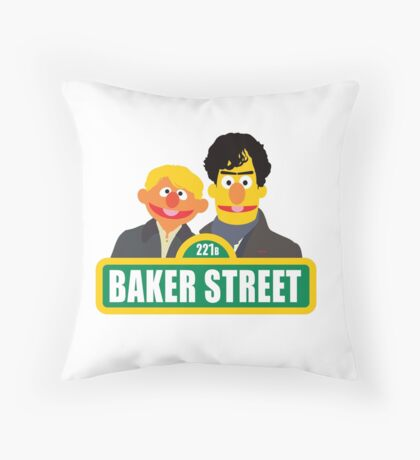 221B Baker Street - Sherlock Throw Pillow