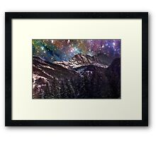 Fantasy mountain landscape Framed Print