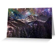 Fantasy mountain landscape Greeting Card