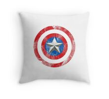 Cap America Shield with star Throw Pillow