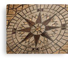 Masonry Compass Metal Print