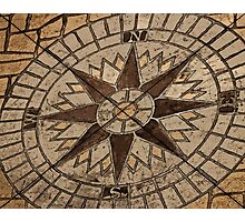 Masonry Compass Photographic Print