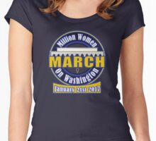 Million Women's March on Washington 2017 T-Shirts Women's Fitted Scoop T-Shirt