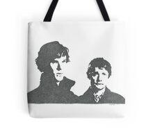 Sherlock and Watson Tote Bag
