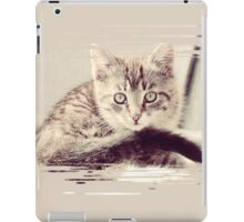 Pretty Striped Kitten iPad Case/Skin