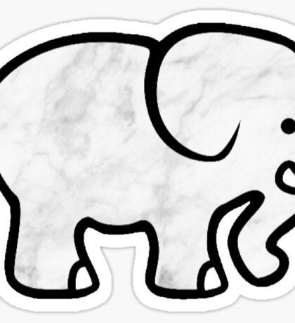 Marble  Elephant Sticker