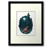 Lovely, Dark, and Deep Framed Print