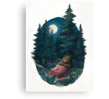 Lovely, Dark, and Deep Canvas Print