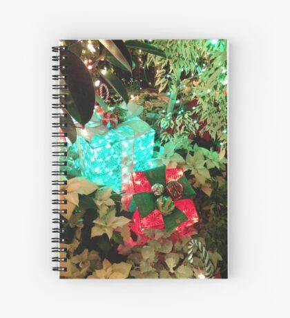 Glowing Presents Spiral Notebook