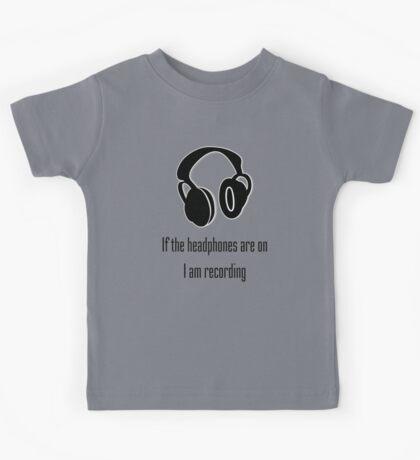 Headphones and Recording  Kids Tee