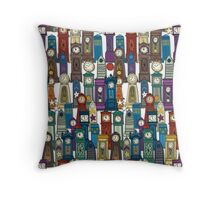 space and time white Throw Pillow