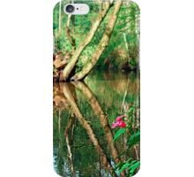Lonely flower guarding the stream | landscape photography iPhone Case/Skin