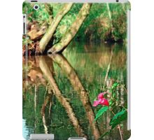 Lonely flower guarding the stream | landscape photography iPad Case/Skin