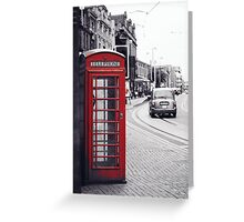 Red English telephone box Greeting Card