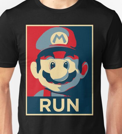 Mario, you better run. Unisex T-Shirt