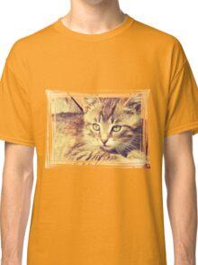Retro Kitten Photo 2 Classic T-Shirt