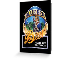 Blue Hen Beer Greeting Card