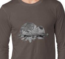 Humorous still life art drawing of dog slipper   Long Sleeve T-Shirt