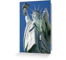 Statue of Liberty from below Greeting Card