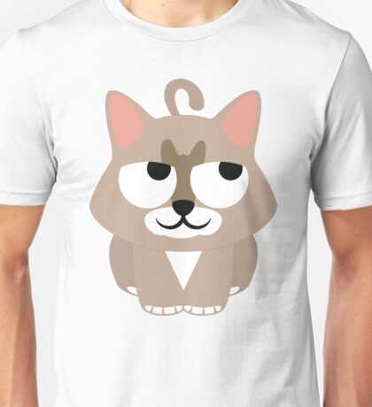 Maine Coon Cat Emoji Thinking Hard and Hmm Look Unisex T-Shirt
