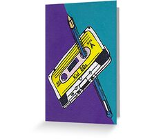 Kid 80s - Cassette Tape Rewind with Pen Greeting Card