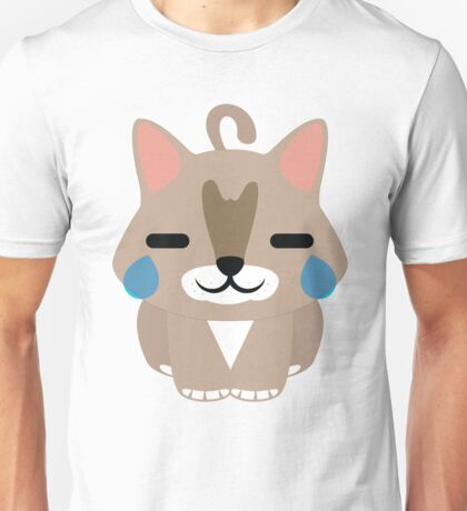 Maine Coon Cat Emoji Teary Eyes with Joy Face Unisex T-Shirt
