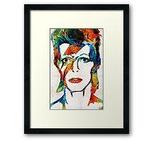 David Bowie Art Tribute by Sharon Cummings Framed Print