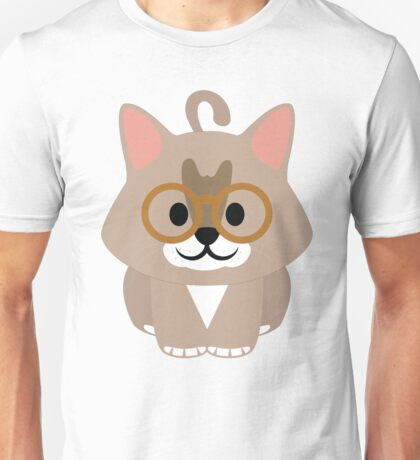 Maine Coon Cat Emoji Nerdy Spectacles Look Unisex T-Shirt