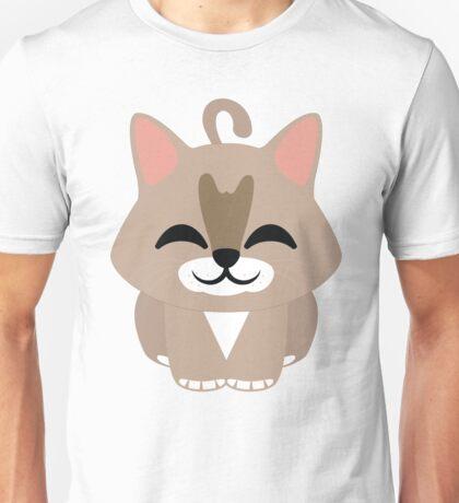 Maine Coon Cat Emoji Happy with Joy Face Unisex T-Shirt