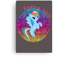 RainbowDashGlitter Canvas Print