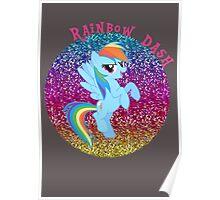 RainbowDashGlitter Poster