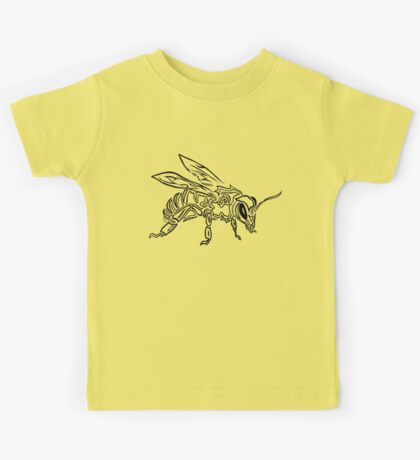 """Bee Spirit"" - Surreal abstract tribal bee totem animal Kids Tee"