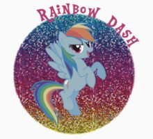 RainbowDashGlitter One Piece - Short Sleeve