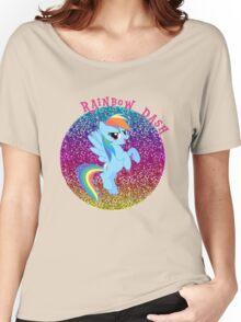 RainbowDashGlitter Women's Relaxed Fit T-Shirt