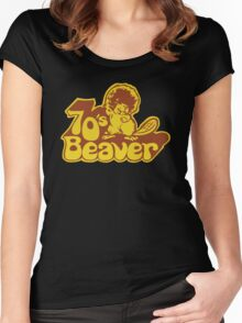 70's Beaver Women's Fitted Scoop T-Shirt