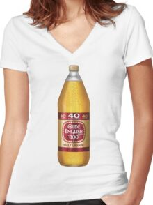 Old English 40z Women's Fitted V-Neck T-Shirt