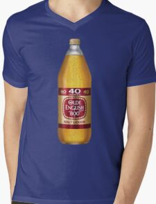 Old English 40z Mens V-Neck T-Shirt