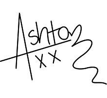 Ashton Irwin Signature (5 Seconds Of Summer) Photographic Print
