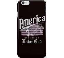 America One Nation Under God iPhone Case/Skin