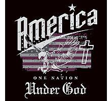 America One Nation Under God Photographic Print