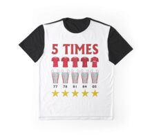5 Times - Liverpool European Cup Winners Graphic T-Shirt