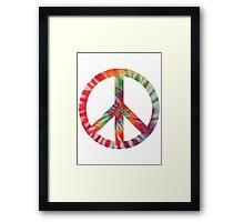 Peaceful Hippy Framed Print