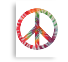 Peaceful Hippy Canvas Print
