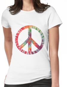 Peaceful Hippy Womens Fitted T-Shirt