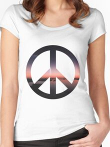 Peaceful Sunset Women's Fitted Scoop T-Shirt