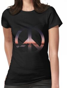 Peaceful Sunset Womens Fitted T-Shirt