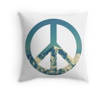 Peaceful Mountains Throw Pillow