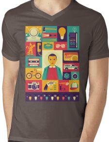 Upside Down Mens V-Neck T-Shirt