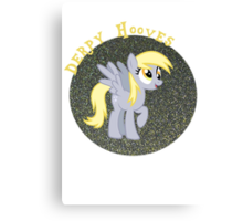DerpyHoovesGlitter Canvas Print