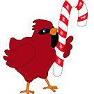 Christmas Cardinal by redqueenself
